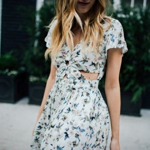 American Eagle Outfitters Cutout Floral Dress
